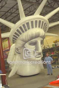 Drawn statue of liberty inflatable AOL's this Stage on Statue