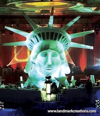 Drawn statue of liberty inflatable Of of Fandango Head Fandango