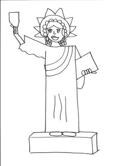 Drawn statue of liberty libert Of Taught First Science I