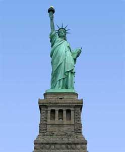 Drawn statue of liberty libert New York in Statue of