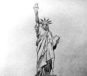 Drawn statue of liberty libert America by Ankit Liberty Libert