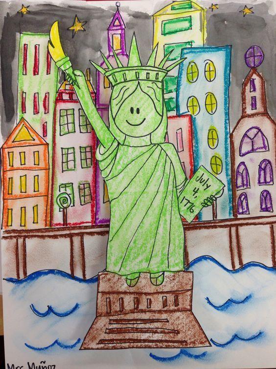 Drawn statue of liberty liberty kid & of draw Statue Liberty