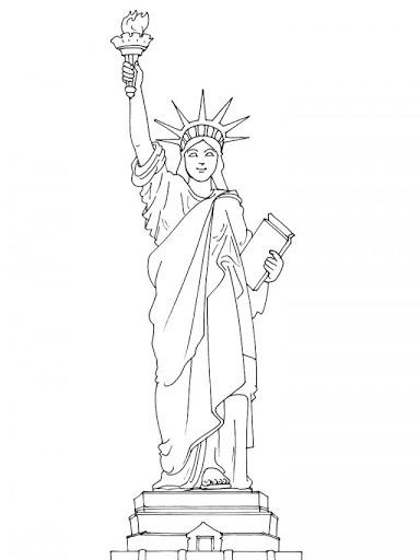 Drawn statue of liberty liberty kid Of statue kids Free of