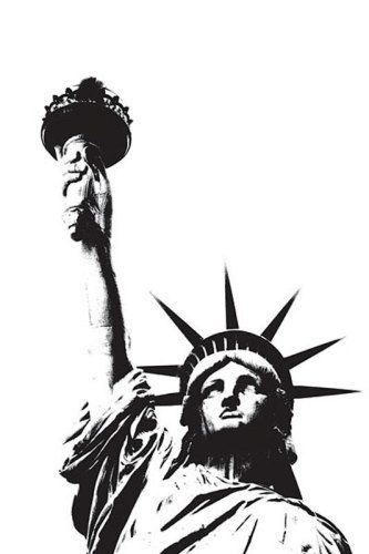 Drawn statue of liberty outline Ideas King of & on