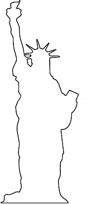 Drawn statue of liberty outline CRAFT Crafts PATTERNS Everyday Arts