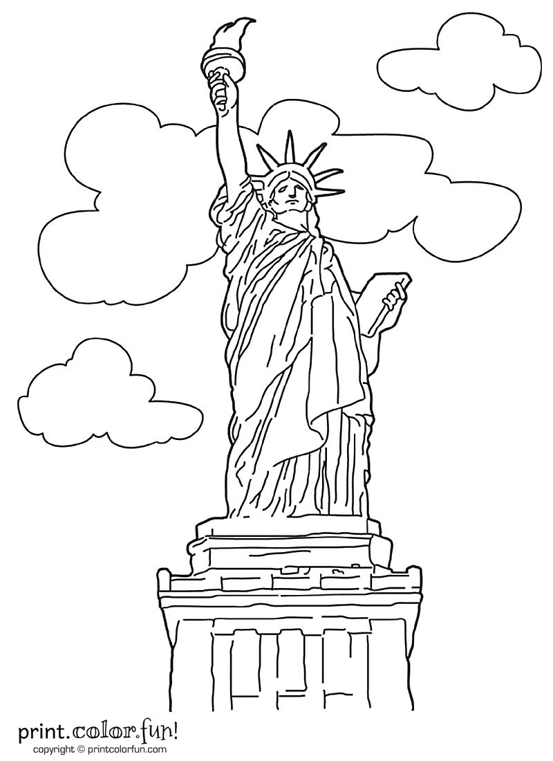 Drawn statue of liberty real Print Liberty of Color