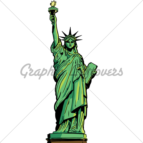 Drawn statue of liberty real Stock Figure Of Statue ·