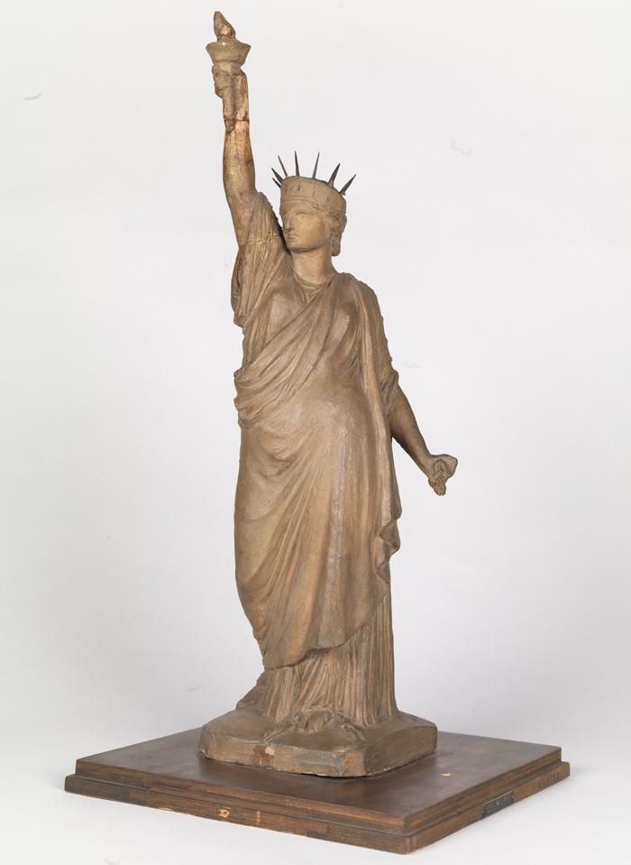 Drawn statue of liberty sculpture Bartholdi Museum 1904) Liberty origin
