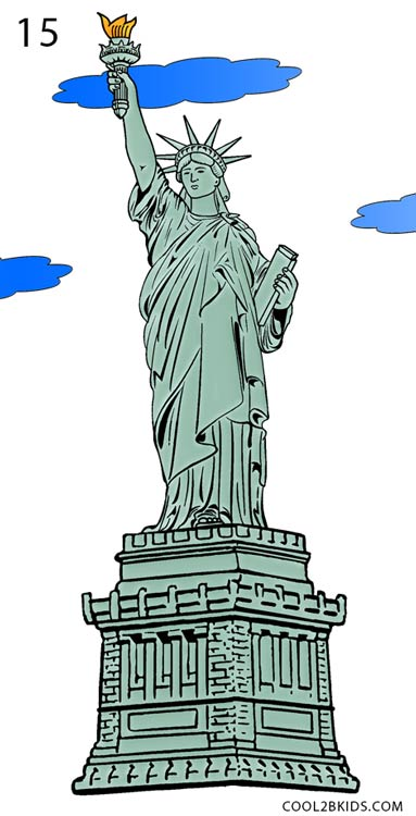Drawn statue of liberty sculpture Draw Pictures) Statue Step Statue