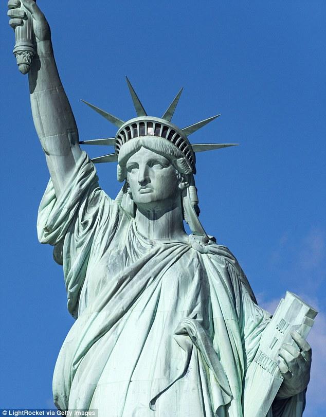 Drawn statue of liberty sculpture Liberty  say have sculptor