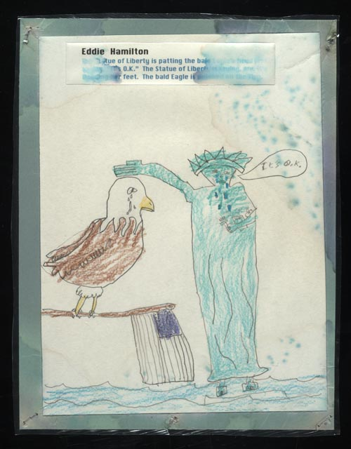 Drawn statue of liberty september 11 Eddie 2001  [Statue Hamilton
