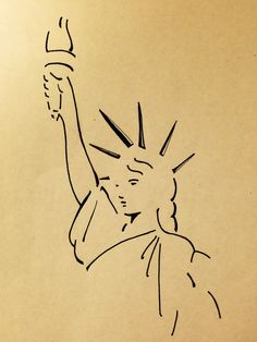 Drawn statue of liberty simple Kennedy drawings  simple Statue