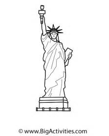 Drawn statue of liberty simple Page Lady sketch Liberty Coloring