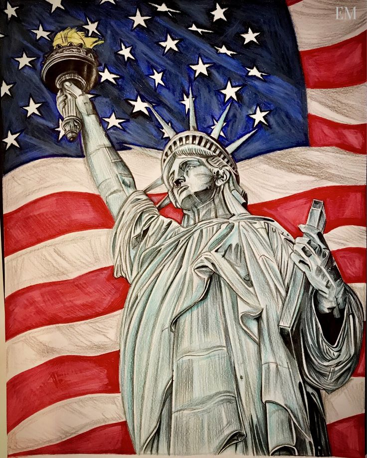 Drawn statue of liberty united states On of liberty #statueofliberty Statue