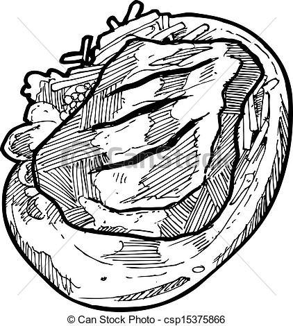 Drawn steak Of on  Vector isolated