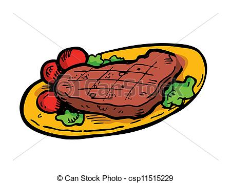 Steak clipart plate food Doodle  a steak Illustration