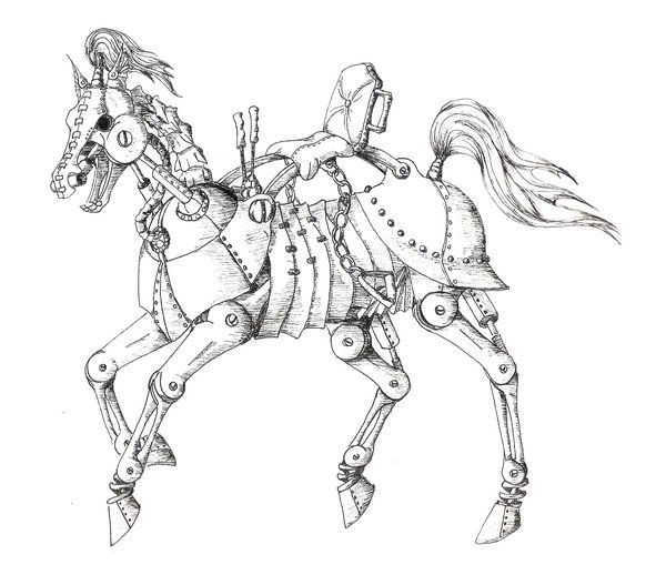 Drawn steampunk On Ornithopter horse shoomlah Steampunk