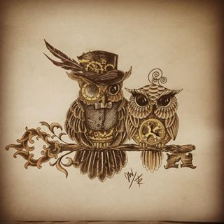 Drawn steampunk couple Tattoo Search steampunk ideas Pinterest