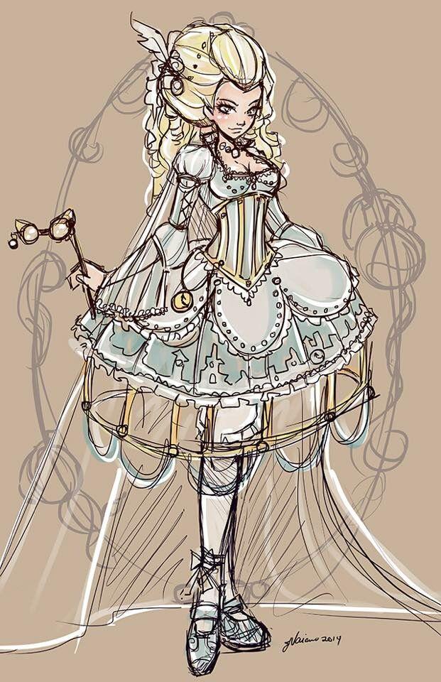 Drawn alice in wonderland cinderella #1