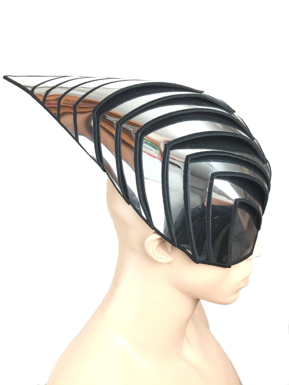 Drawn steampunk headdress Cybergoth futuristic divamp Futuristic inspired