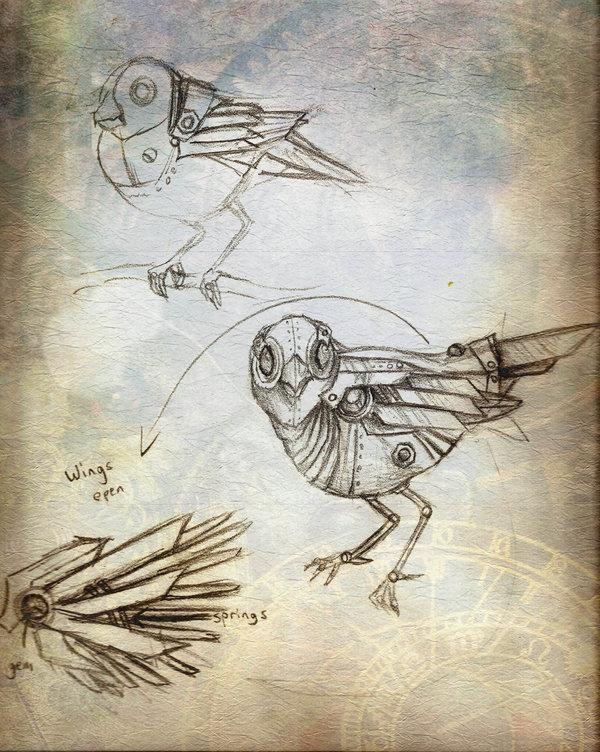 Drawn steampunk headdress Club Bird by Headdress Steampunk