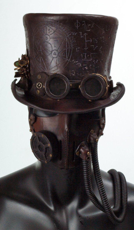 Drawn steampunk headdress Headdress Leather deviantART on Steampunk