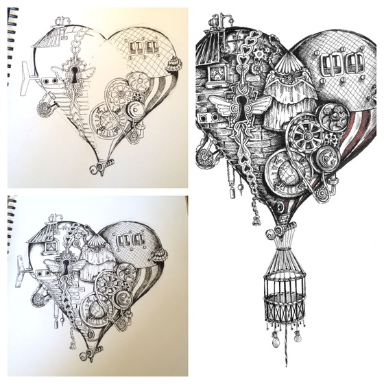 Drawn steampunk heart Image 311447 Best drawing Pinterest