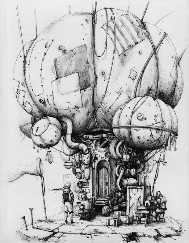 Drawn steampunk house Drawing images Steampunk Google buildings