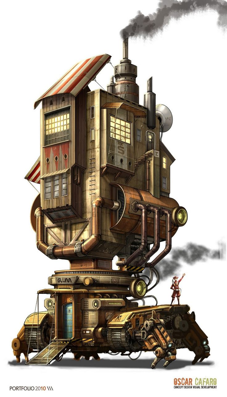 Drawn steampunk house  Pinterest Steampunk 10+ design