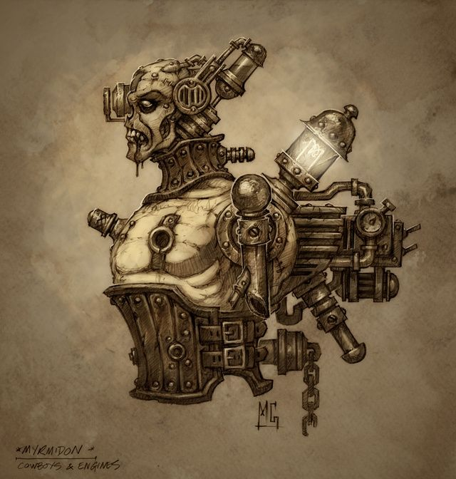 Drawn steampunk human robot Sheet: Pirate Inspiration xlarge RobotsDiesel