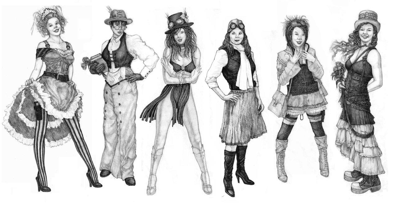 Drawn steampunk legend A Variety: Steamy Clinic HYSTERIA: