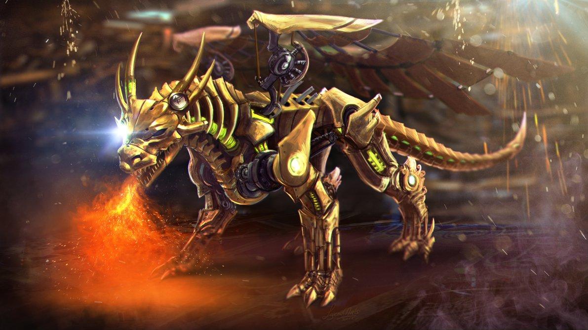 Drawn steampunk legend RuneFest dragon — by as