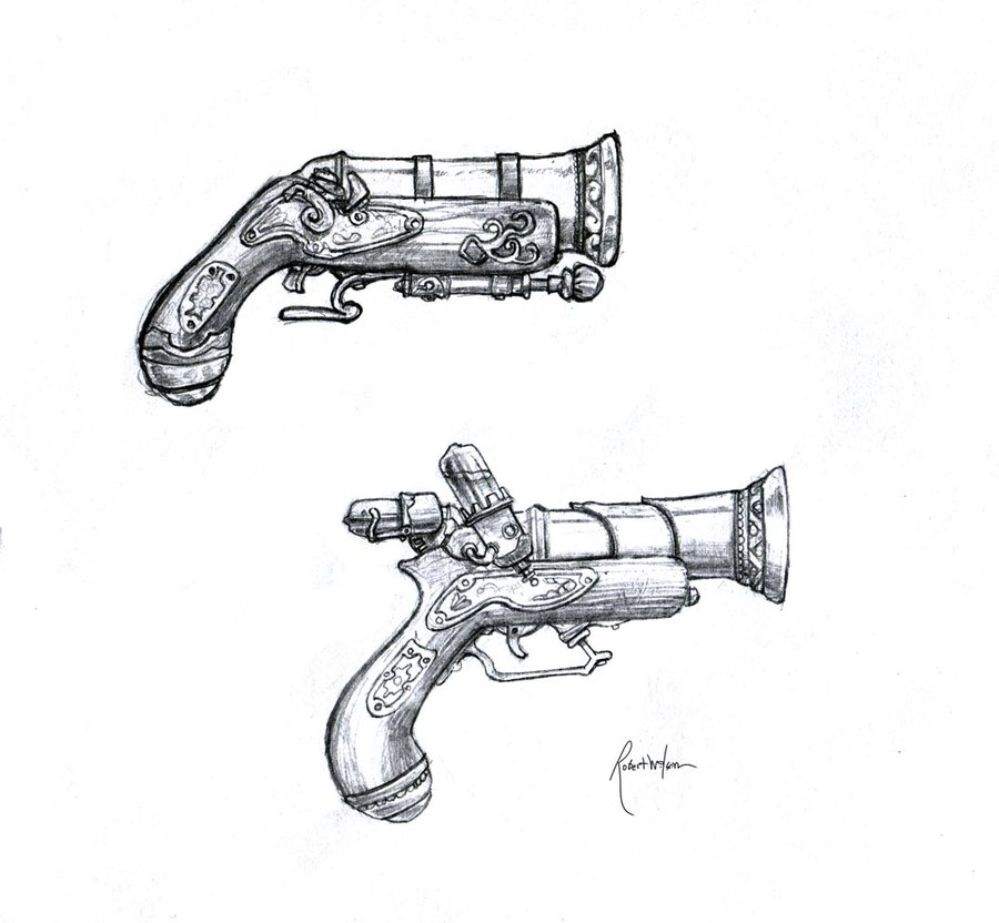 Drawn steampunk pirate Drawing Deep weapons drawing steampunk