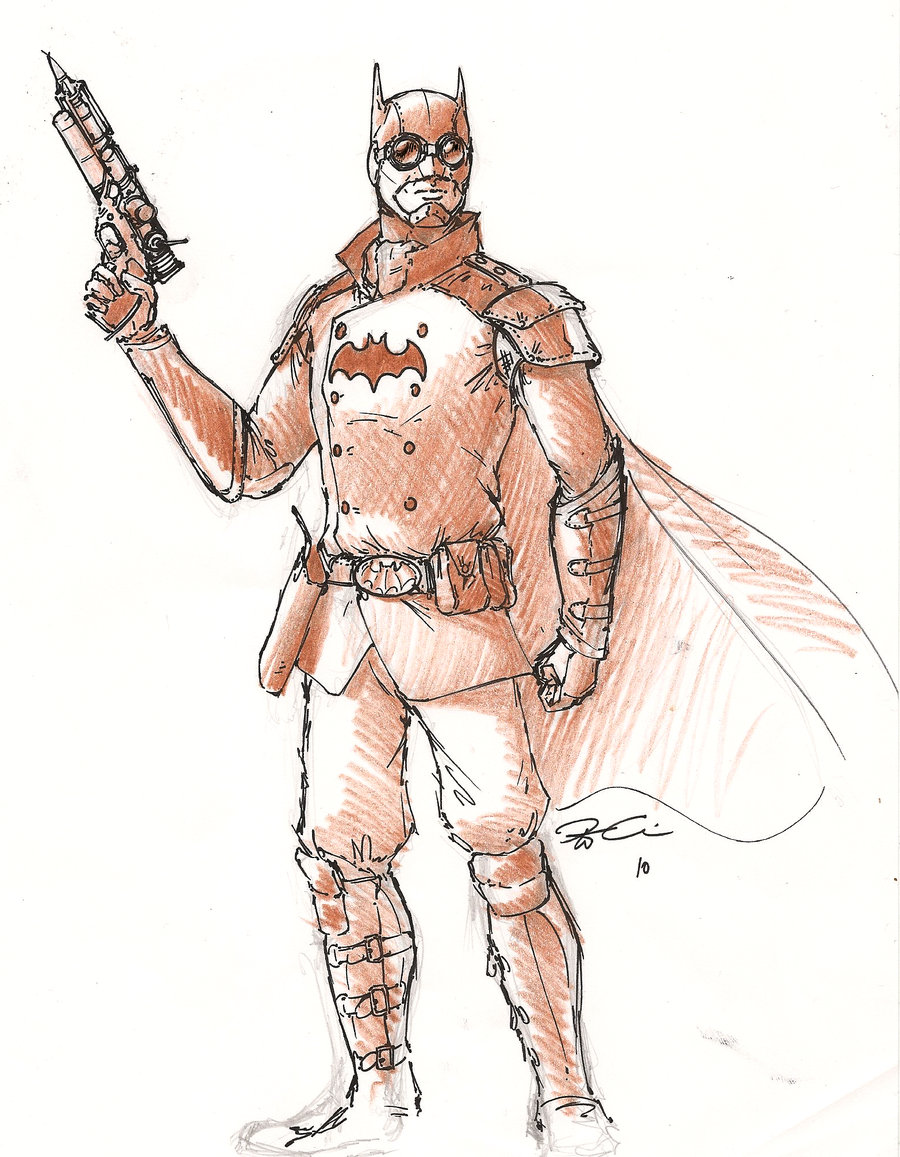 Drawn steampunk superhero By Steampunk RobtheDoodler Batman The