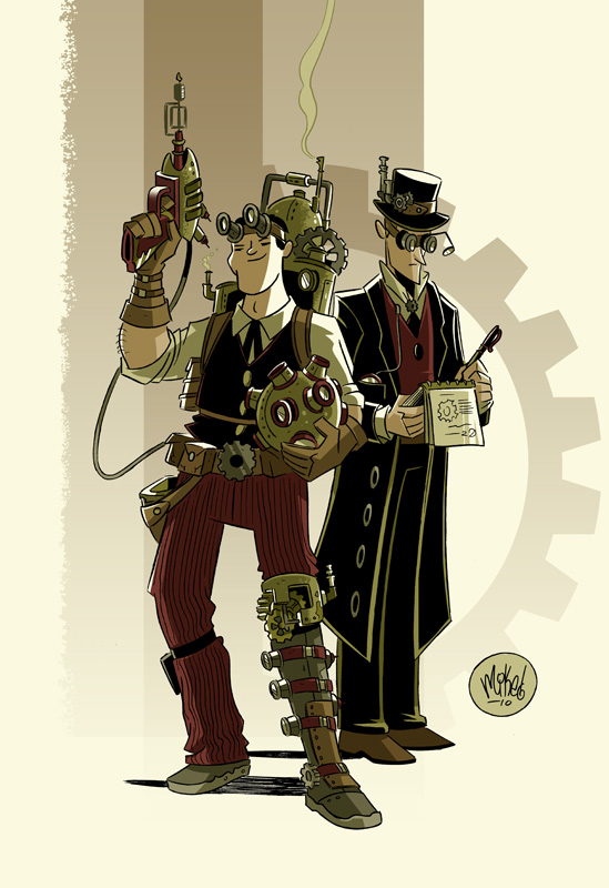 Drawn steampunk superhero Space jpg Operation · Mike