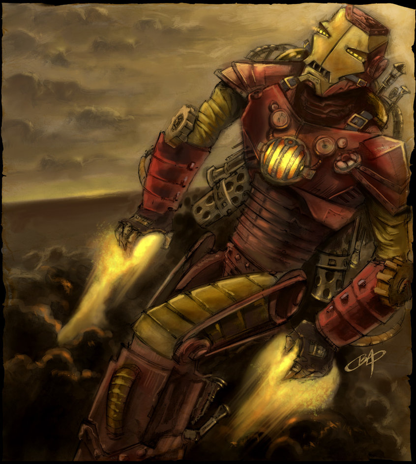 Drawn steampunk superhero Impossible Steampunk Superheroes astronaut 5