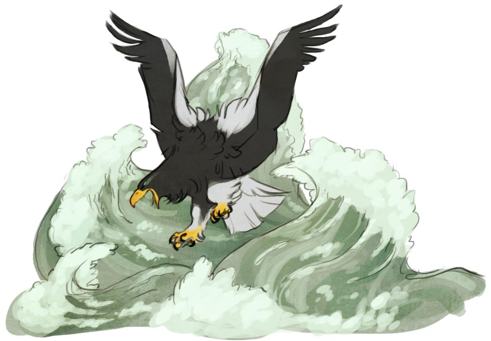 Drawn steller's sea eagle Steller's DeviantArt Eagle Eagle Sea