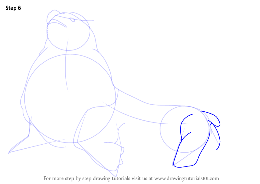 Drawn steller's sea eagle easy draw Lion How (Aquatic Make Sea