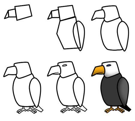 Drawn steller's sea eagle easy draw Fine motor Pinterest on animals