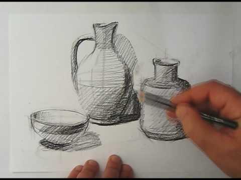Drawn still life Draw how life to still