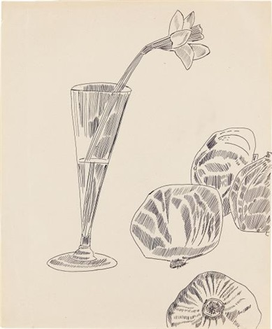 Drawn still life andy warhol On and Flowers artnet Andy