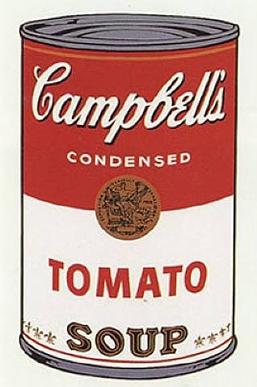 Drawn still life andy warhol (1968) Campbell's Andy Warhol Soup