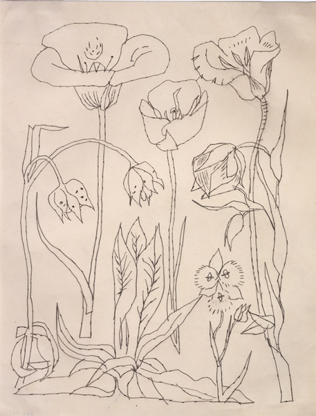 Drawn still life andy warhol Observation Observation Source: Flowers Andy