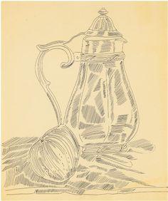 Drawn still life andy warhol #andywarhol (Coffee Carafe) 1957 (Pot