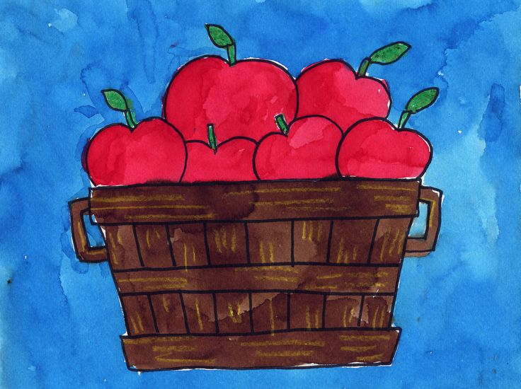 Drawn still life autumn Draw ideas Pinterest Bushel Apple
