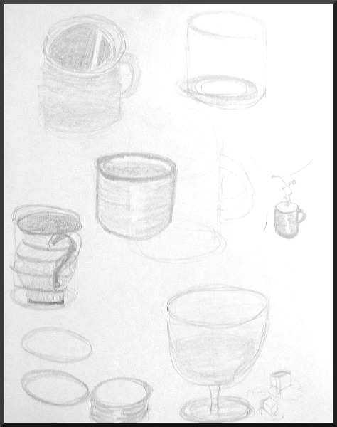 Drawn still life bad Utilizing hard for that some