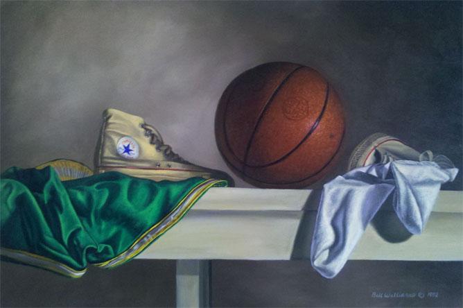 Drawn still life basketball Memorabilia still through lifes of