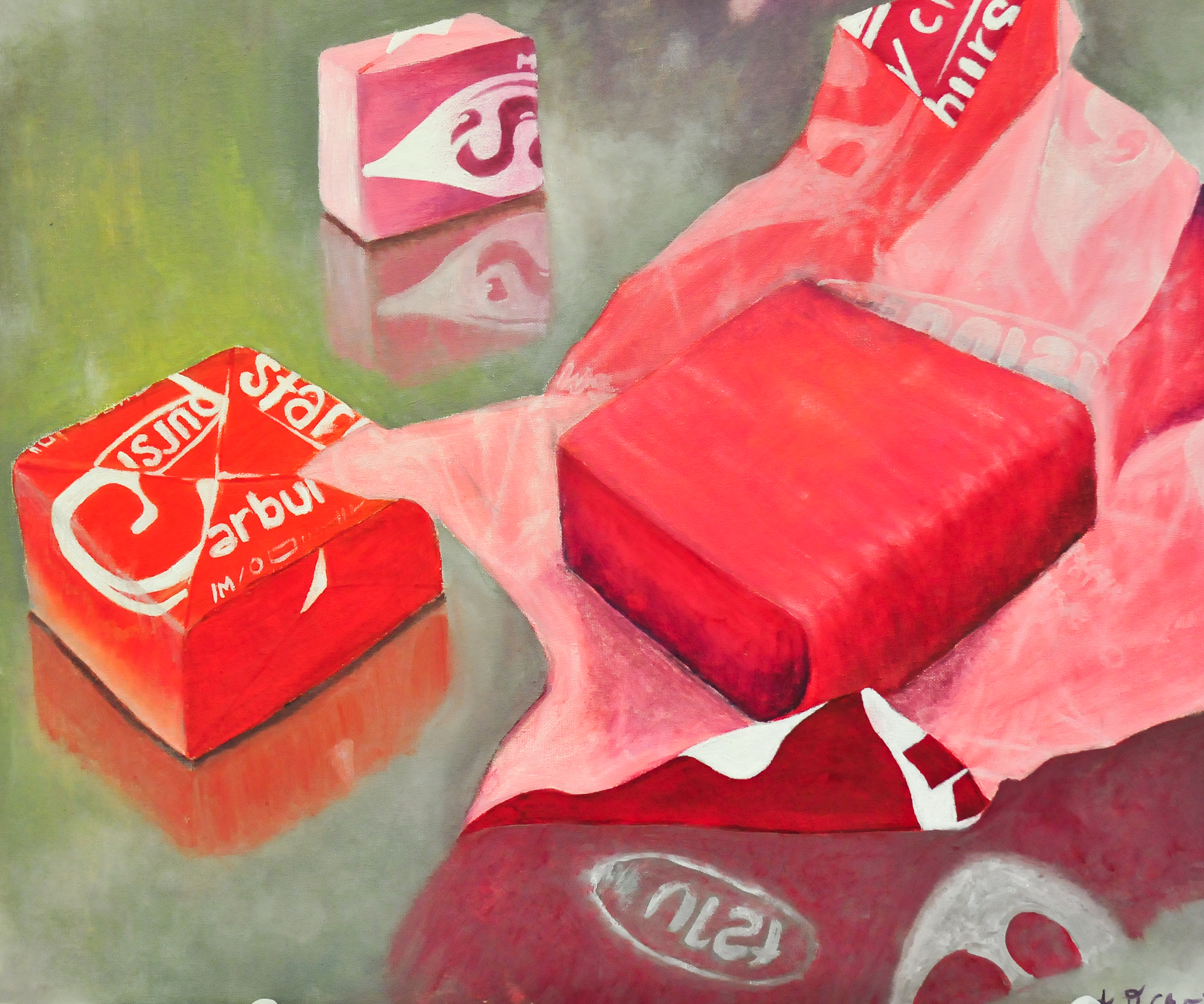 Drawn still life candy Painting Plan still painting Candy