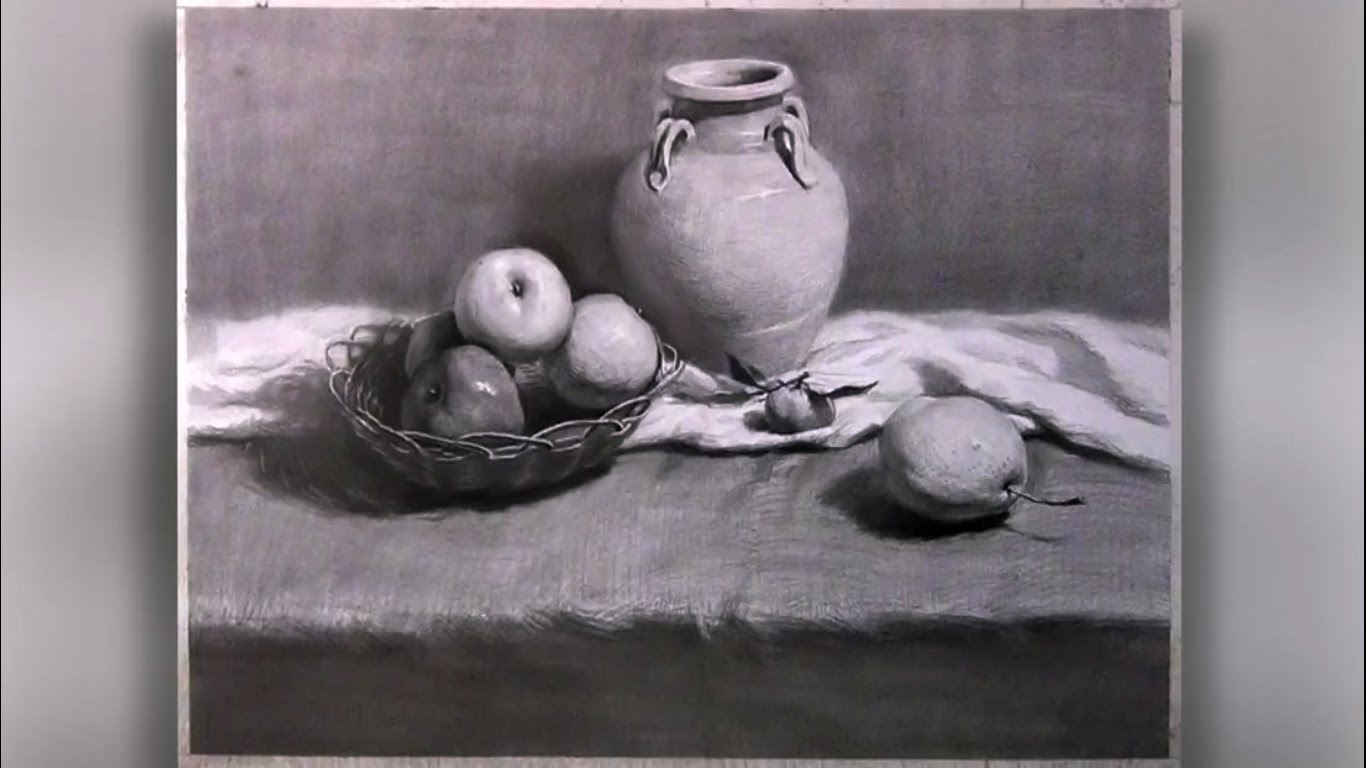 Drawn still life charcoal pencil YouTube Pencil How with
