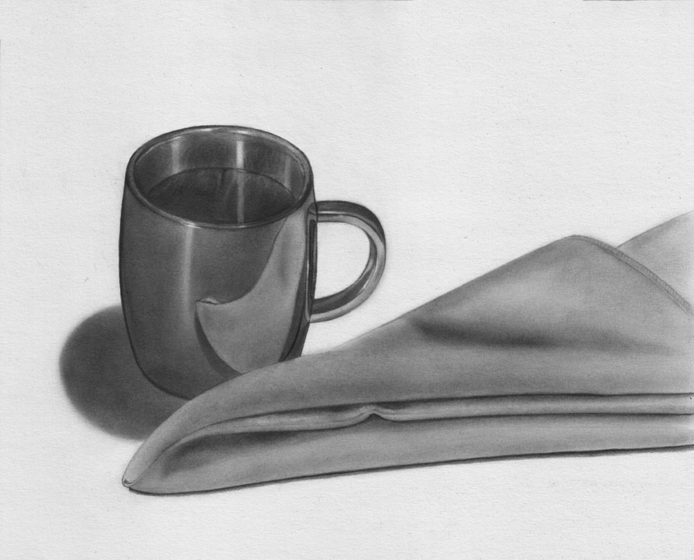 Drawn still life charcoal pencil And and 6 Table 5